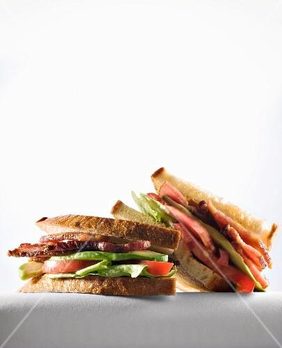Halved BLT Sandwich