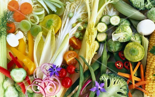 Assorted vegetables (filling the image)