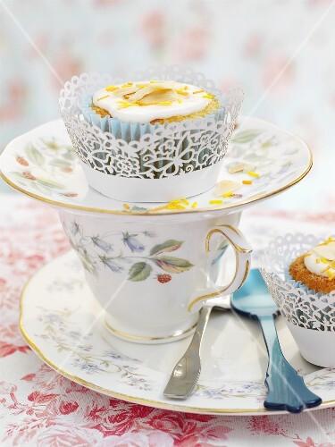 Sweet potato and orange cupcakes