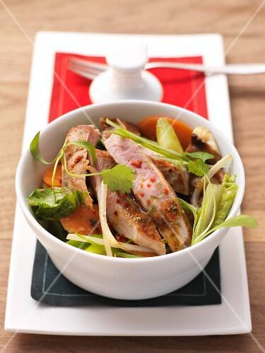 Veal tenderloin with vegetables