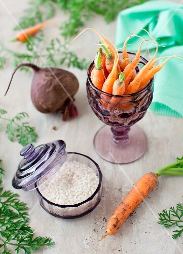 Fresh Carrots, Beet and Arborio Rice