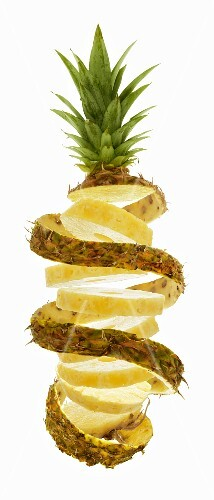 Slices of pineapple (in a spiral)