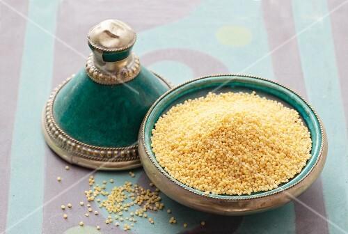Millet in an Oriental dish