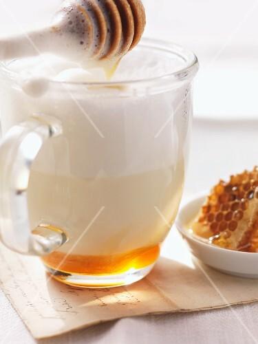 Hot milk with honey
