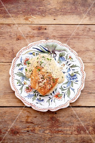 Chicken breast in a mustard sauce
