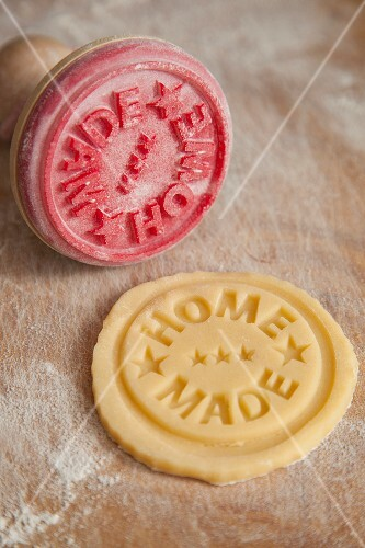 A 'home made' stamp for biscuits