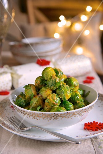 Brussel's sprouts with creme fraiche for Christmas dinner