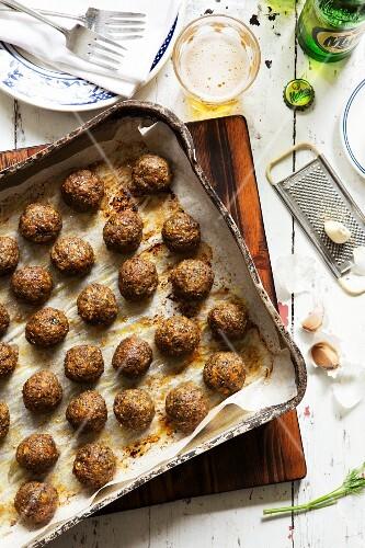 Keftedes (mini meatballs, Greece)