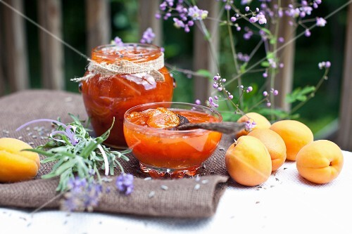 Homemade Apricot Jam with Fresh Apricots and Lavender