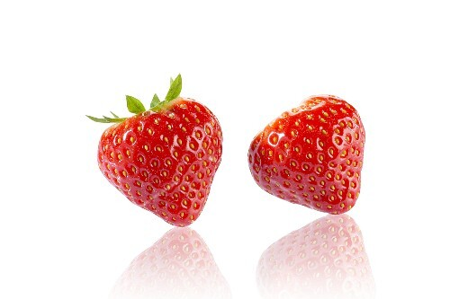 Two strawberries