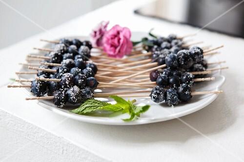 Blueberry skewers