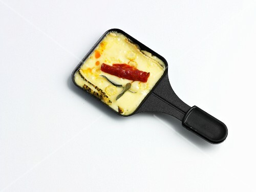 Raclette with chorizo
