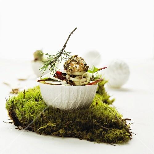 Christmas salad with fennel and orange vinaigrette