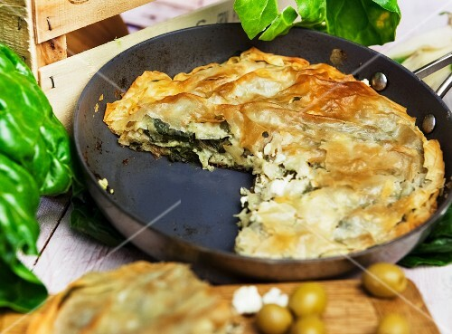 Spanakopita (spinach pasty, Greece)