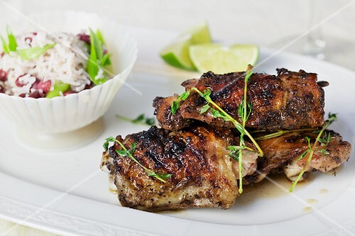Sticky chicken with rice (Asia)