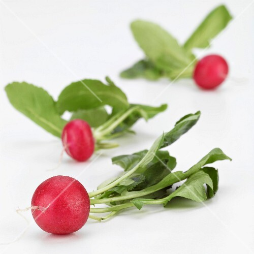 Three Radishes with Green