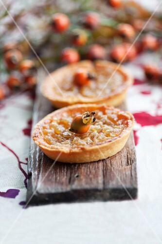 Glazed apple tartlets