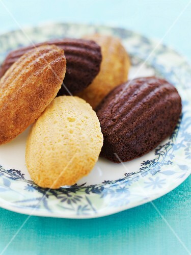 Assorted Madeleines on a Plate