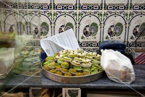 Baked pistachio treats on a tray