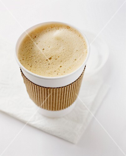 Coffee in a Take Out Paper Cup