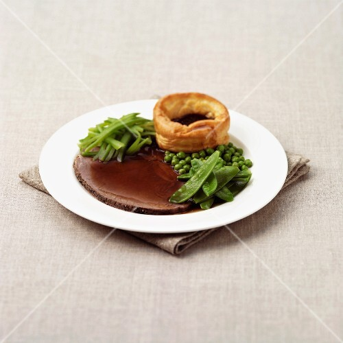 Roast Beef and Yorkshire Pudding with Vegetables