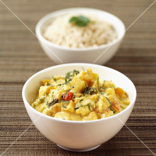 Butternut Squash Curry and Rice