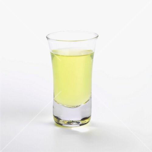 A glass of limoncello