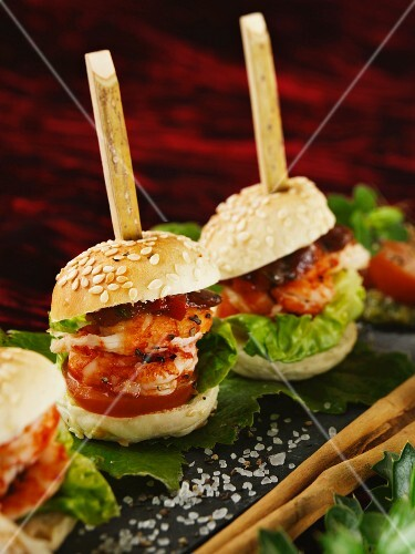 Mini Burger with Crayfish