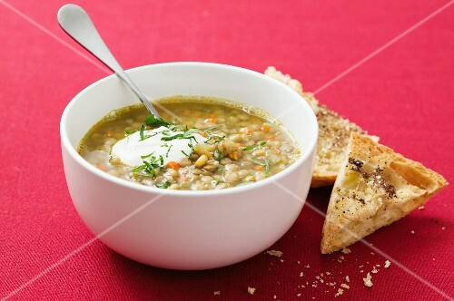 Minestrone with ciabatta