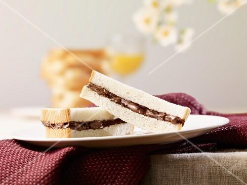 A Nutella sandwich