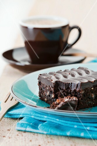 A brownie on a plate
