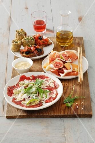 Four assorted Italian starters