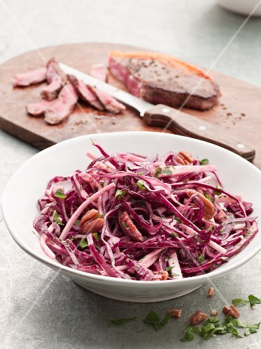 Coleslaw and Steak