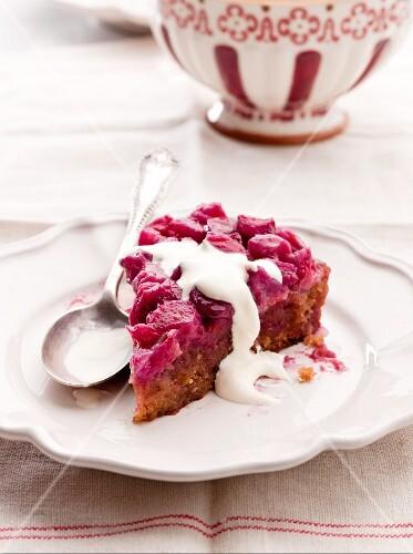 Sticky Rhubarb Pudding