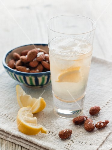 White Port and Tonic; Salted Almonds
