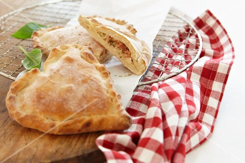 Heart-shaped calzone for Valentine's Day