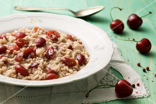 Risotto alle ciliegie (cherry risotto, Italy)