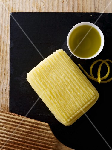 Butter with olive oil and lemon