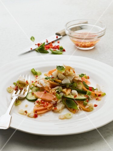 Crab salad with papaya