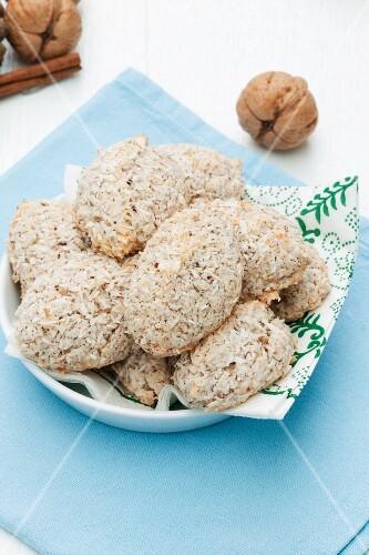 Coconut and hazelnut macaroons