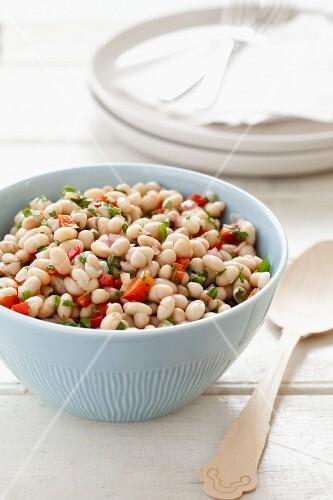 A Bowl of White Bean Salad