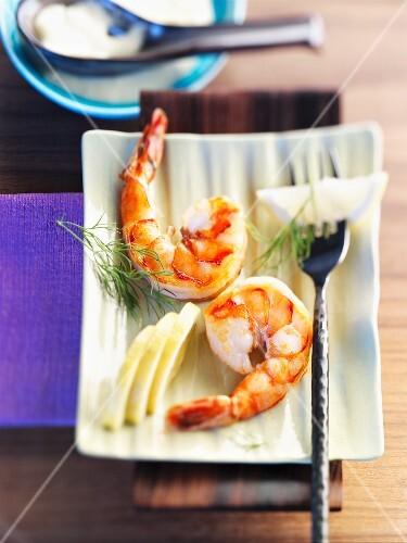 Jumbo shrimp with aioli