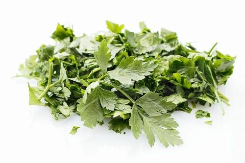 Fresh parsley, partly chopped