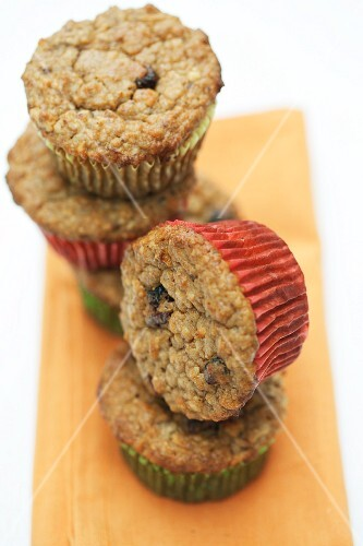 Christmas muffins with nuts and cranberries