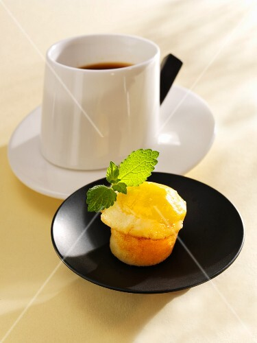 Mango muffin with a cup of coffee