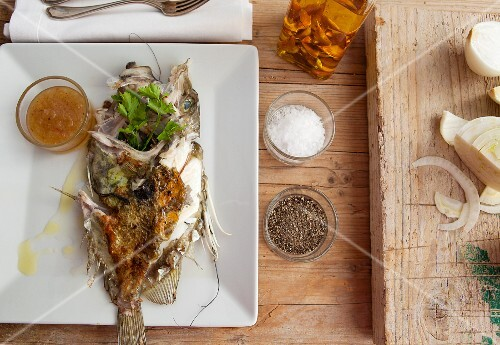 Grilled John Dory with fennel and parsley