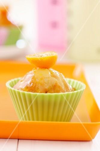 An orange muffin