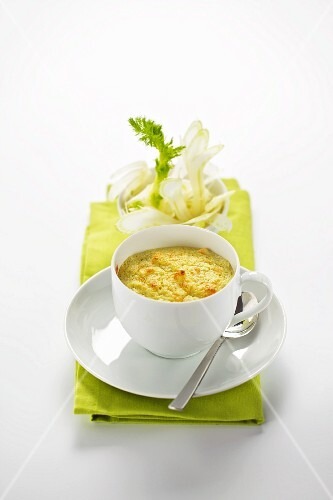 Fennel soufflé in a cup