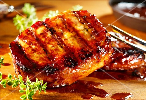 Grilled sweet & sour pork chop