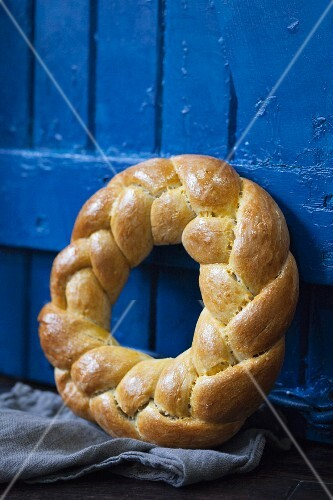 Braided Bread Wreath